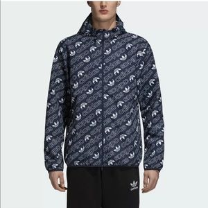 NEW ADIDAS ORIGINALS MONOGRAM PRINT WINDBREAKER